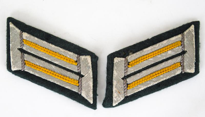 WW2 German Wehrmacht army officers collar tabs - Cavalry/Recon